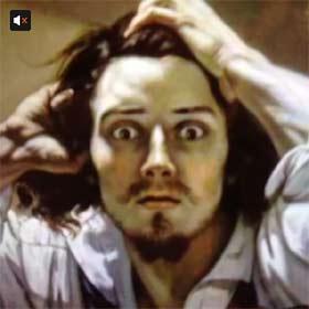 Le désespéré par Gustave Courbet